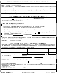 "DD Form 1561 ""Statement to Substantiate Payment of Family Separation Allowance (FSA)"""
