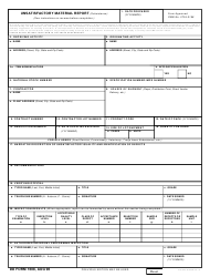 DD Form 1608 Unsatisfactory Materiel Report (Subsistence)