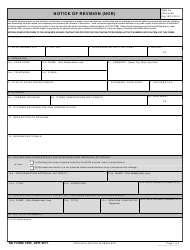 DD Form 1695 Notice Of Revision (nor)