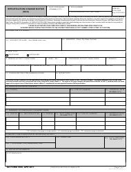 DD Form 1696 Specification Change Notice (Scn)