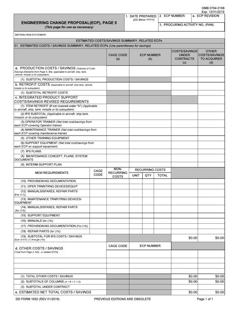 DD Form 1692/5  Printable Pdf