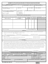 DD Form 1952 Dosimetry Application and Record of Previous Radiation Exposure