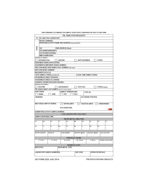 DD Form 2026 Fillable Pdf