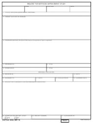 DD Form 2032 Request for Methods Improvement Study