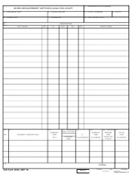 DD Form 2035 Work Measurement Methods Analysis Chart