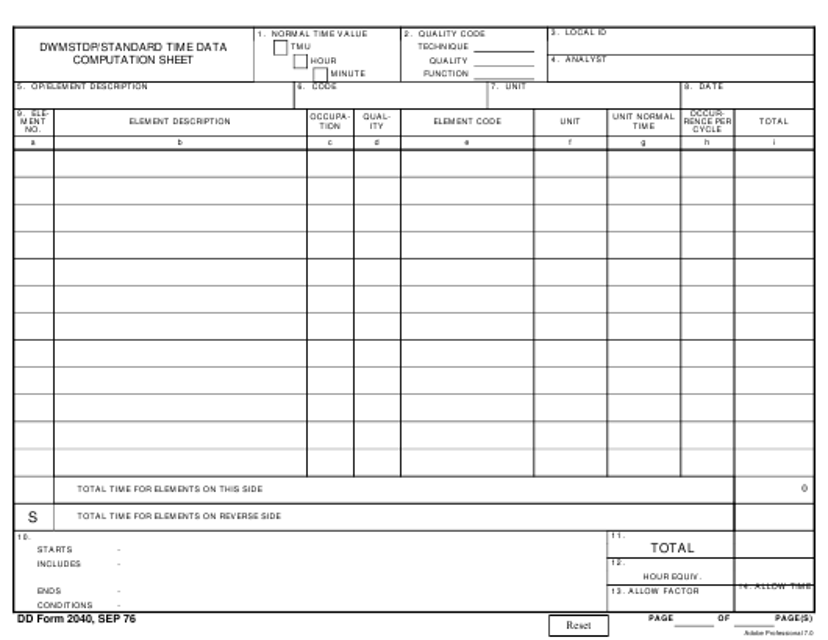 DD Form 2040  Printable Pdf