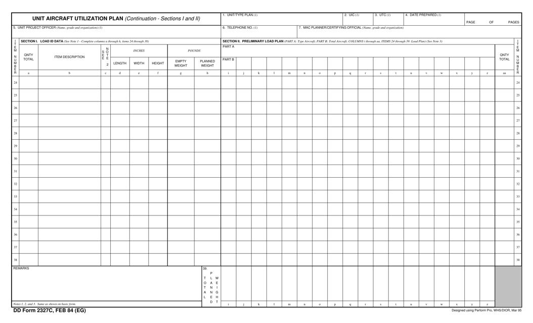 DD Form 2327C Printable Pdf