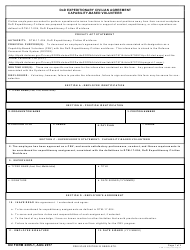 DD Form 2365-1 DoD Expeditionary Civilian Agreement: Capability-Based Volunteer