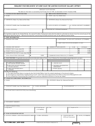 DD Form 2481 Request for Recovery of Debt Due the United States by Salary Offset