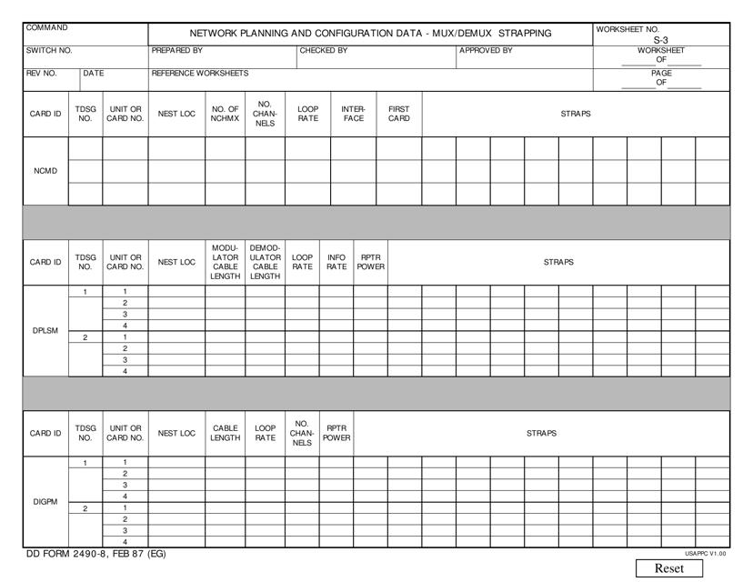 DD Form 2490-8 Fillable Pdf