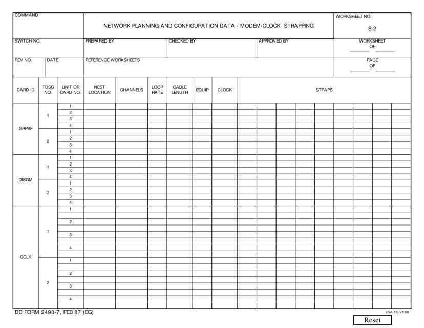 DD Form 2490-7 Fillable Pdf
