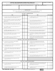"DD Form 2495 ""Official Mail Manager's Inspection Checklist"""