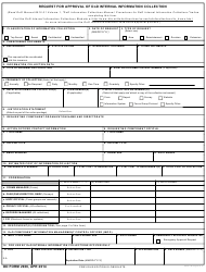 DD Form 2936 Request for Approval of DoD Internal Information Collection