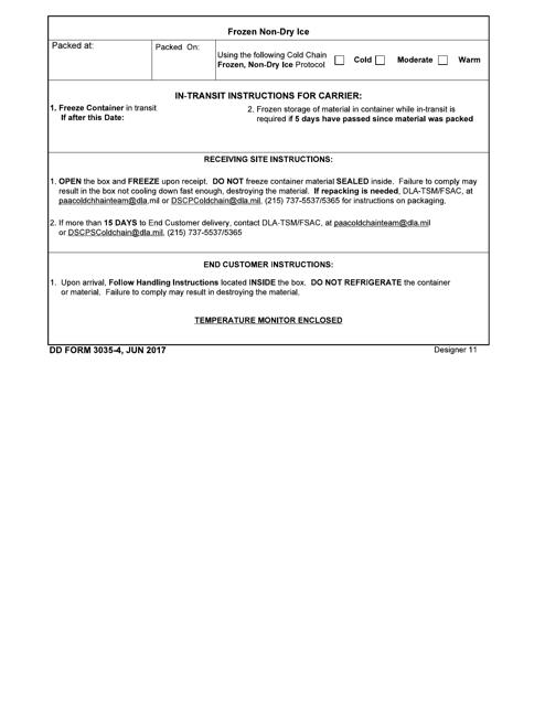 DD Form 3035-4  Printable Pdf