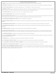 DA Form 260-1 Request for Publishing - DA Training, Doctrinal, Technical and Equipment Publications, Page 5