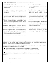 """DA Form 285-w """"Technical Report of U.S. Army Ground Accident - Summary of Witness Interview"""", Page 2"""