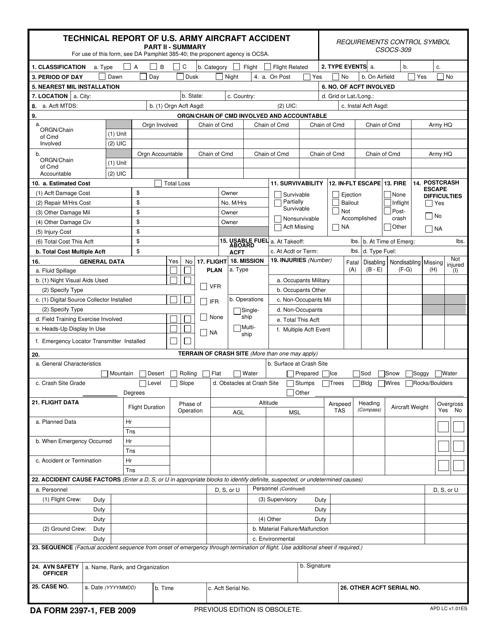 DA Form 2397-1 Fillable Pdf