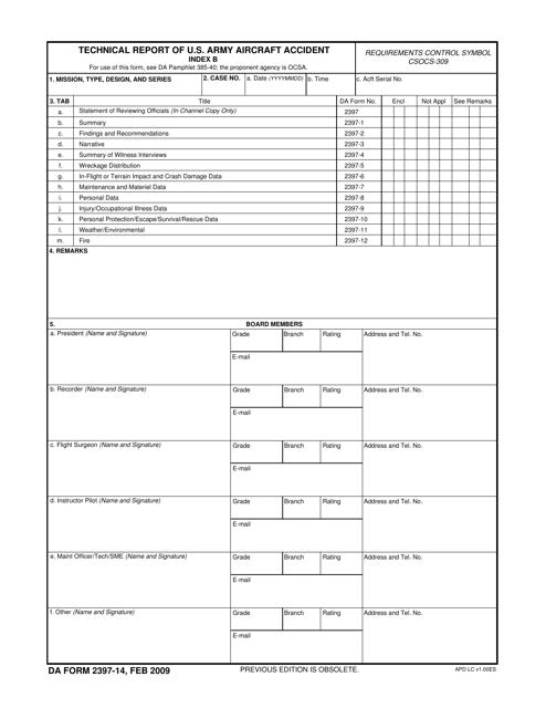 DA Form 2397-14 Fillable Pdf