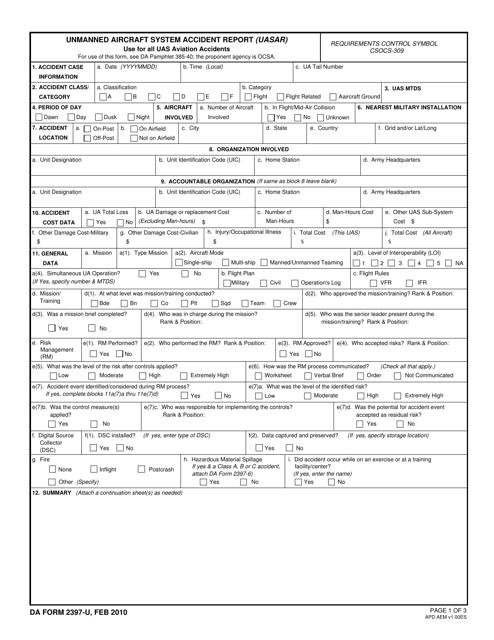 DA Form 2397-u Fillable Pdf