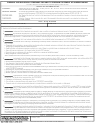 DA Form 3180-1 Chemical and Biological Personnel Reliability Program Statement of Understanding