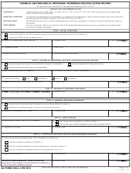 DA Form 3180-2 Chemical and Biological Personnel Screening and Evaluation Record