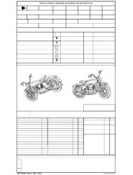 DD Form 788-2 Private Vehicle Shipping Document for Motorcycle