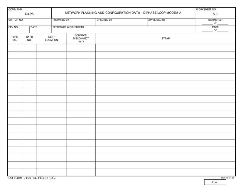 DD Form 2490-14 Fillable Pdf