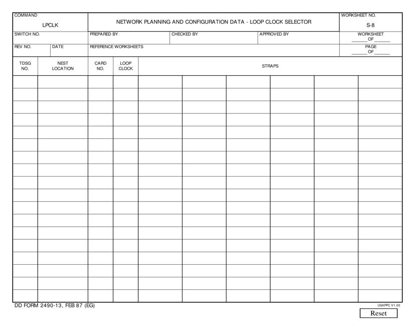 DD Form 2490-13  Printable Pdf