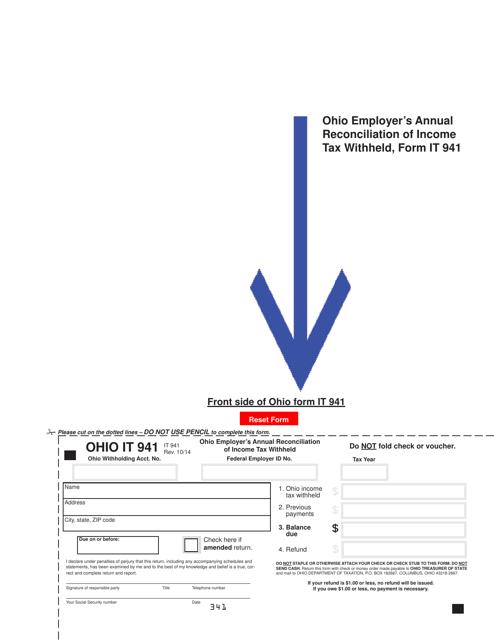 Form IT941  Printable Pdf