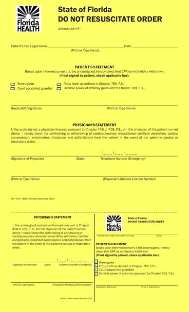 Form 1896 Printable Pdf