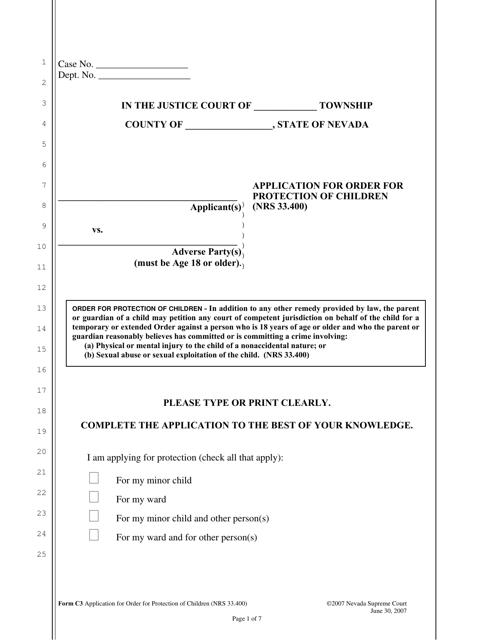 Form C-3  Printable Pdf