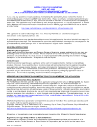 """Form ABT-6003 """"Application for One/Two/Three Day Permit or Special Sales License"""" - Florida"""