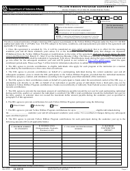 VA Form 22-0839 Yellow Ribbon Program Agreement