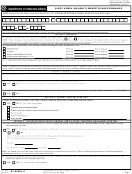 VA Form 21-0960L-2 Sleep Apnea Disability Benefits Questionnaire