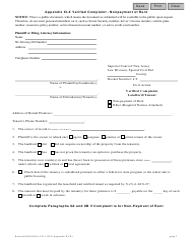 Form CN 11252 Appendix Xi-X - Verified Complaint - Nonpayment of Rent - New Jersey
