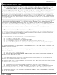 VA Form 10-0143 Department of Veterans Affairs Certification Regarding Drug-Free Workplace Requirements for Grantees Other Than Individuals