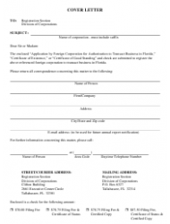 """Form CR2E007 """"Application by Foreign Corporation for Authorization to Transact Business in Florida"""" - Florida, Page 2"""