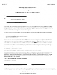 Form RD 3550-1 Authorization to Release Information