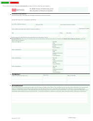 "Form D-2848 ""Power of Attorney and Declaration of Representation"" - Washington, D.C."