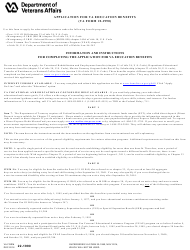 VA Form 22-1990  Fillable Pdf