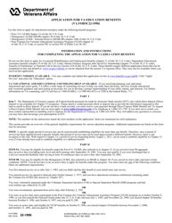 VA Form 22-1990 Application for VA Education Benefits