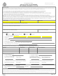 "Form DS-117 ""Application to Determine Returning Resident Status"""