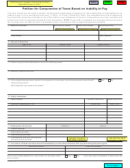 Form A-212 Petition for Compromise of Taxes Based on Inability to Pay - Wisconsin