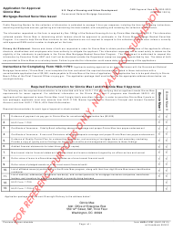 "Sample Form HUD-11701 ""Application for Approval - Ginnie Mae Mortgage-Backed Securities Issuer"""