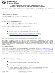 VA Form 21-526 Veteran's Application for Compensation and/Or Pension