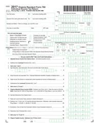 Form 760 2017 Individual Income Tax Return - Virginia