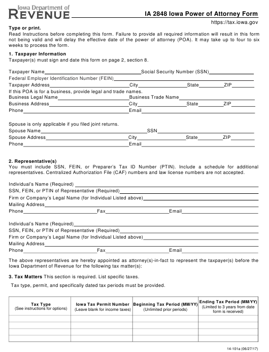 power of attorney form 941  Form IA13 Download Fillable PDF, Iowa Power Of Attorney ...