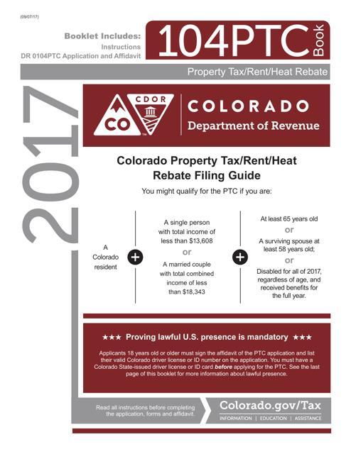 Form DR0104PTC 2017 Printable Pdf