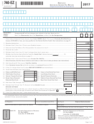 Form 740-EZ 2017 Kentucky Individual Income Tax Return - Kentucky