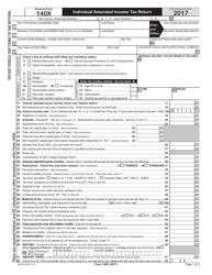 "Arizona Form 140X (ADOR10573) ""Individual Amended Income Tax Return"" - Arizona, 2017"